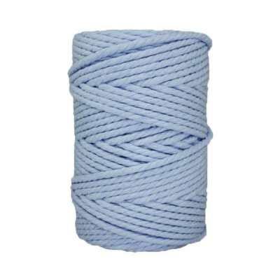 Corde macramé - 4 mm - Bleu ciel