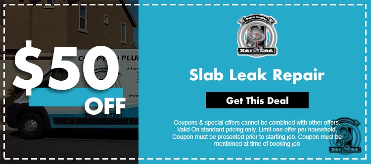discount on fslab leak repair services in Mesa, AZ