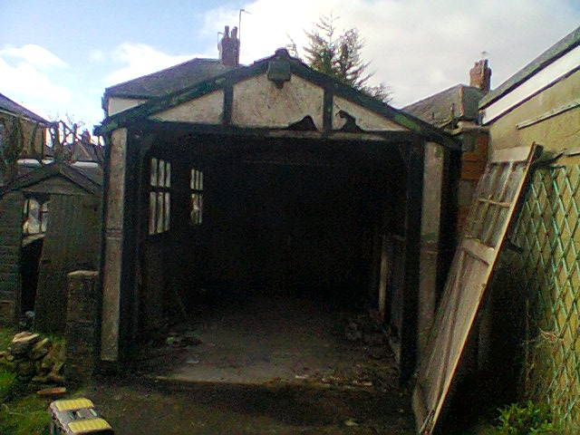An Old Apex Garage Which Is Ready For Demolition