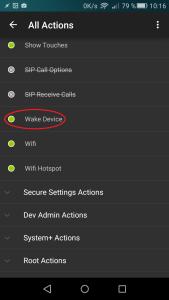 wake up secure setting