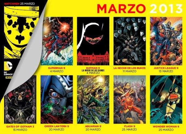 checklist dc comics mexico marzo 2013