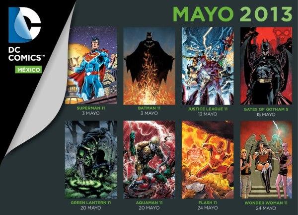 checklist mayo 2013 dc comicd mexico