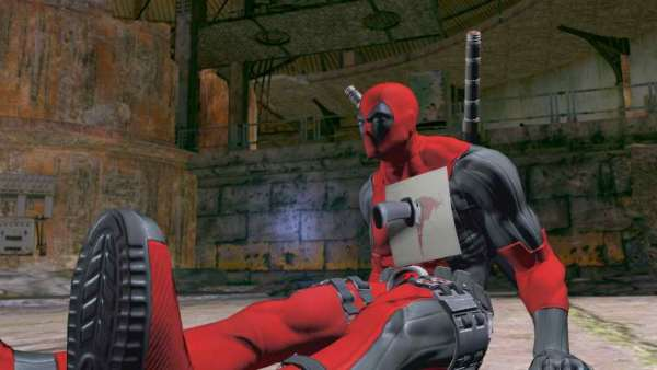Deadpool-Game-Screenshot-Stabbed