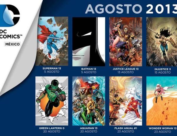 checklist dc comics mexico agosto 2013