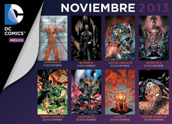 checklist dc comics mexico noviembre 2013