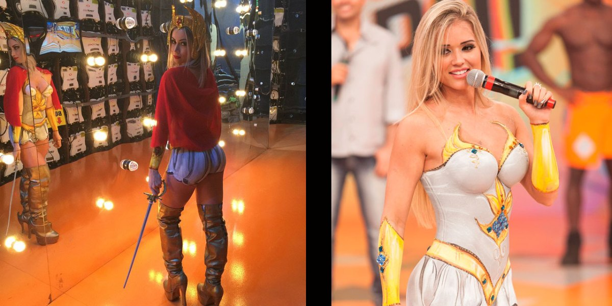 Carol Narizinho VS Aryane Steinkopf She-Ra Body Paint