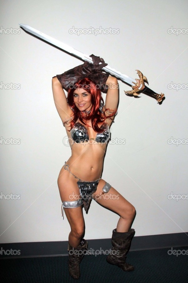 Alicia Arden as 'Red Sonja' at San Diego Comic-Con International 2011, San Diego Convention Center, San Diego, CA. 07-23-11