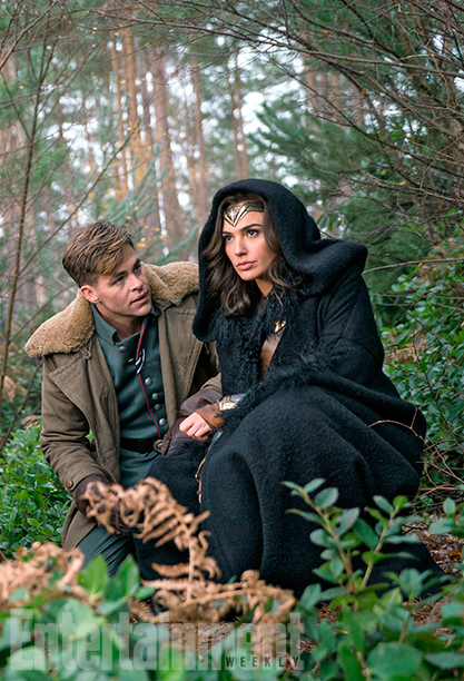 Wonder Woman (2017) Chris Pine and Gal Gadot