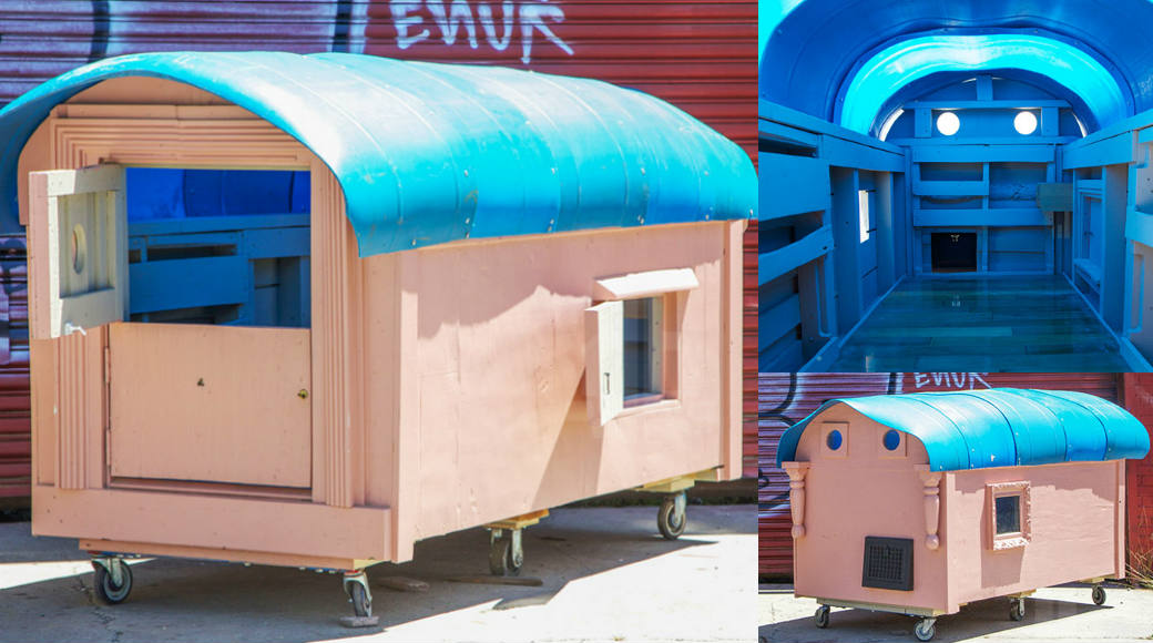 Artist Builds Homes for the Homeless…  Out of Trash!