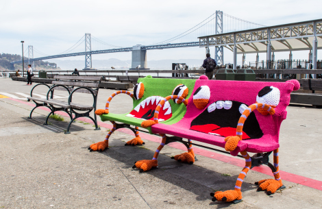Knitted Park Benches