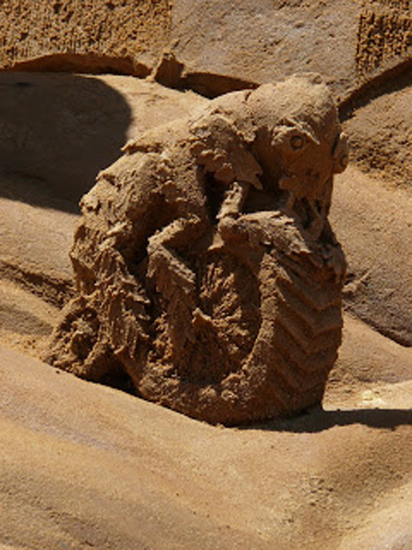 Flea from the Sand Sculpture