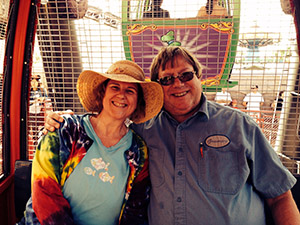 Laurie and Mark on the ferris wheel