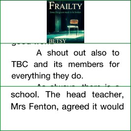 Mentioned in the Acknowledgements and cameo part as Head Teacher
