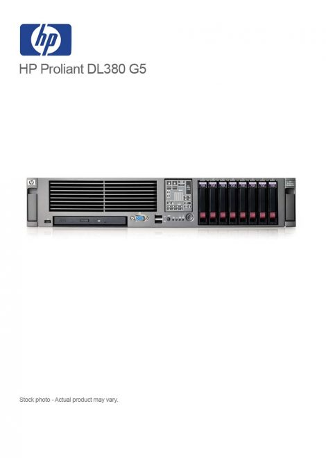 HP Proliant DL380 G5 2xQuadCore Xeon 2.83GHz 8GB RAM
