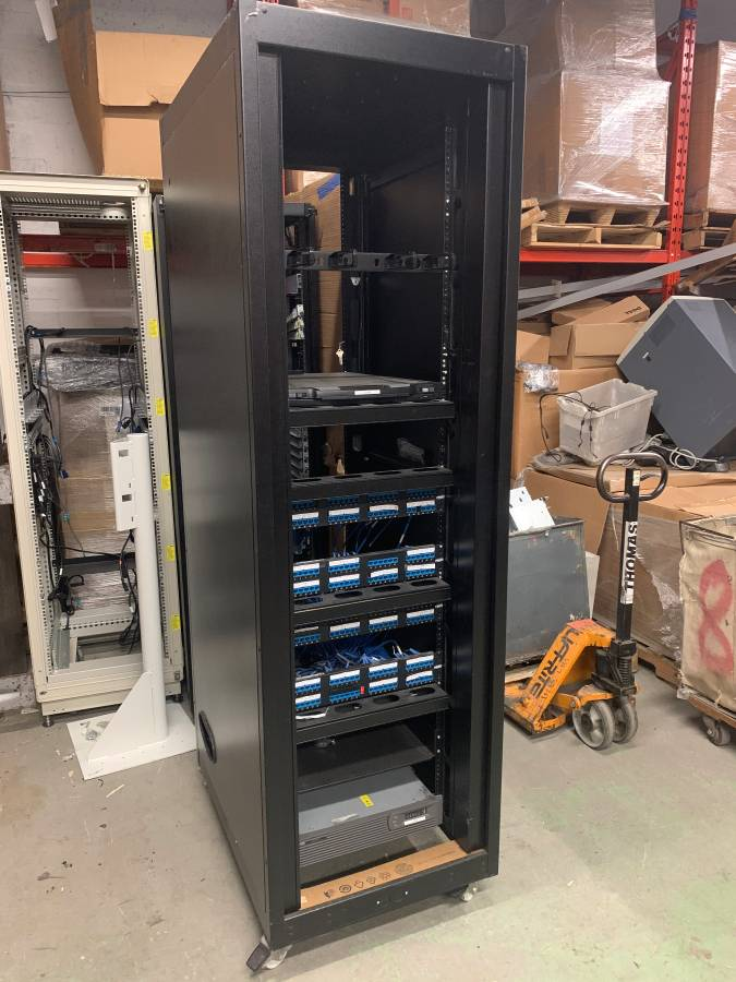 server rack and network cabinet