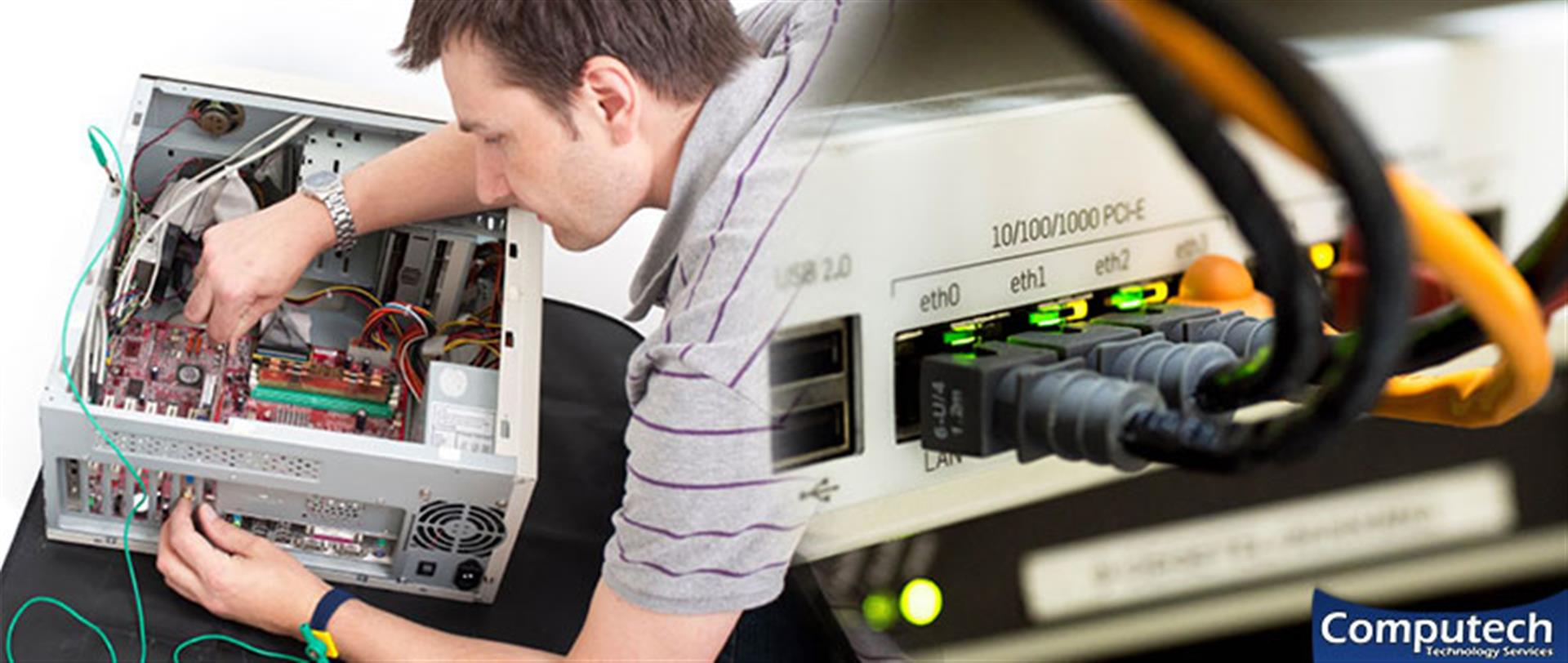 Jefferson Georgia On Site Computer PC & Printer Repair, Networking, Voice & Data Cabling Contractors