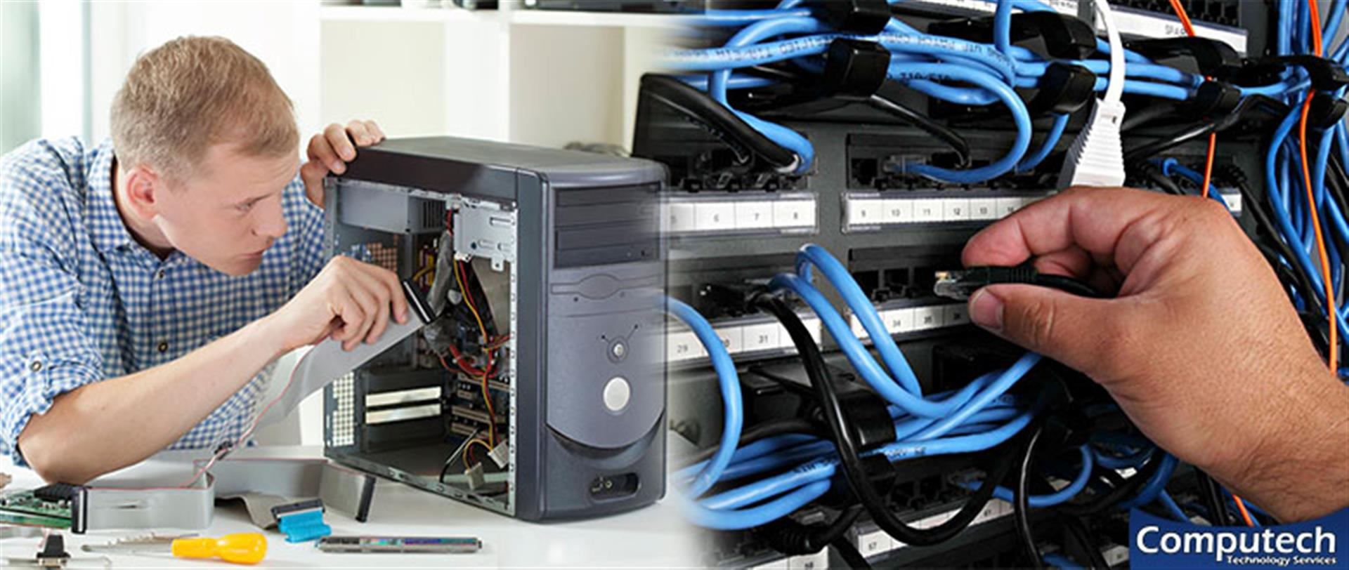 Sugar Hill Georgia On Site Computer PC & Printer Repair, Networks, Voice & Data Cabling Contractors