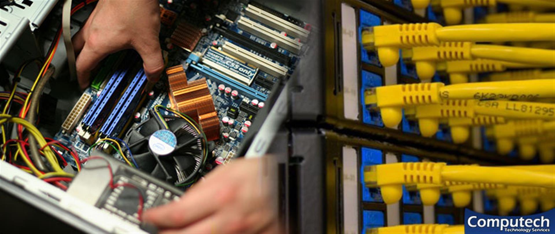 Fredericksburg Virginia Onsite Computer PC & Printer Repair, Networks, Voice & Data Cabling Services