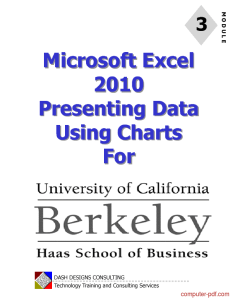 Tutorial excel presenting data using charts also pdf free for beginners rh computer