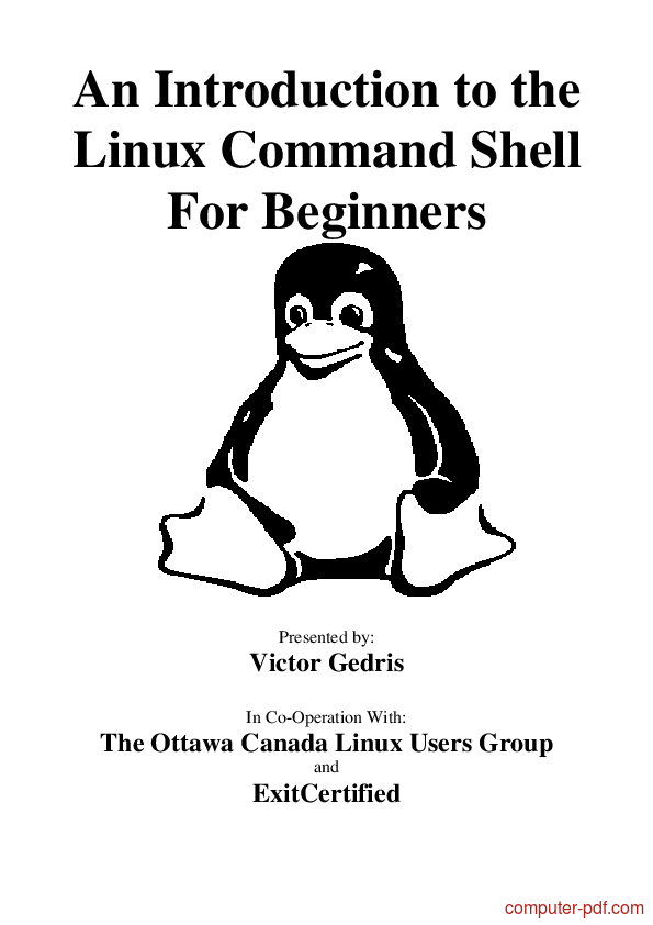 [PDF] An Introduction to the Linux Command Shell free