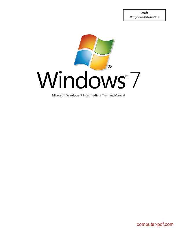 [PDF] Microsoft Windows 7 free tutorial for Beginners