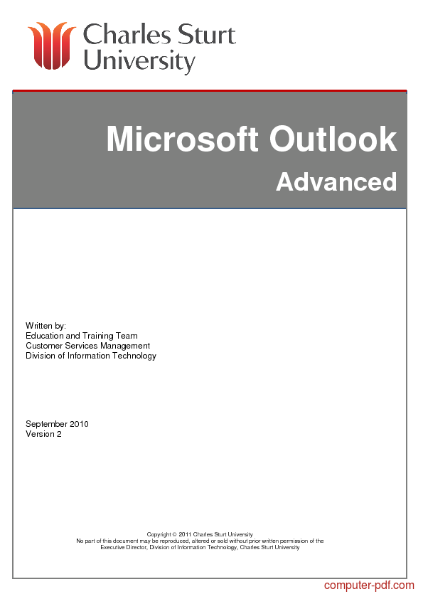 [PDF] Microsoft Outlook free tutorial for Beginners