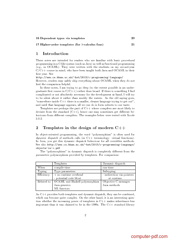 PDF An Introduction To C Template Programming Free