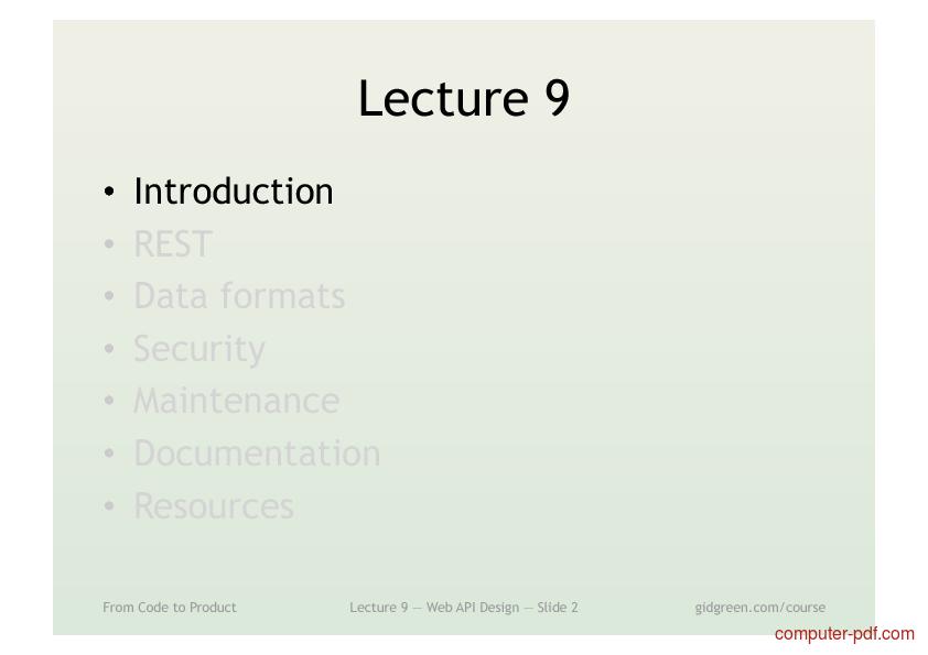 [PDF] Web API Design free tutorial for Intermediate