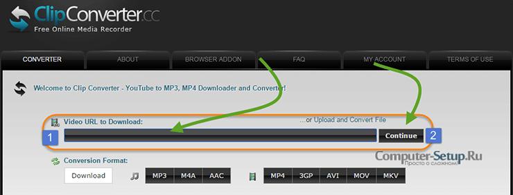 Serviciul online clipconverter.cc pentru descărcarea clipurilor de pe Internet
