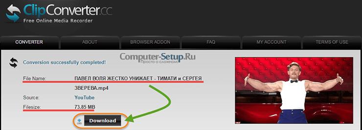 ClipConverter - Clip Descărcați Start