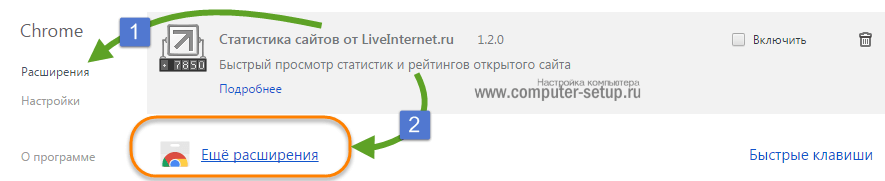 Google Chrome кеңеюі, кеңейту қосыңыз