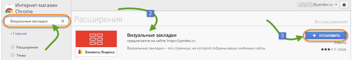 Біз Хромға арналған Яндексден зенмен визуалды бетбелгілерді құрамыз