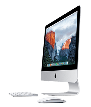 iMac with Magic keyboard and Magic Mouse 2