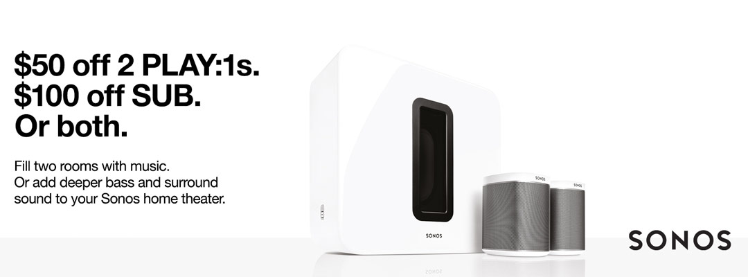 Expired: Save on SONOS SUB or 2 Play:1s.
