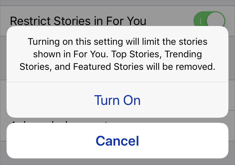 "How to Avoid Downer Stories in Apple's ""For You"" News Suggestions"