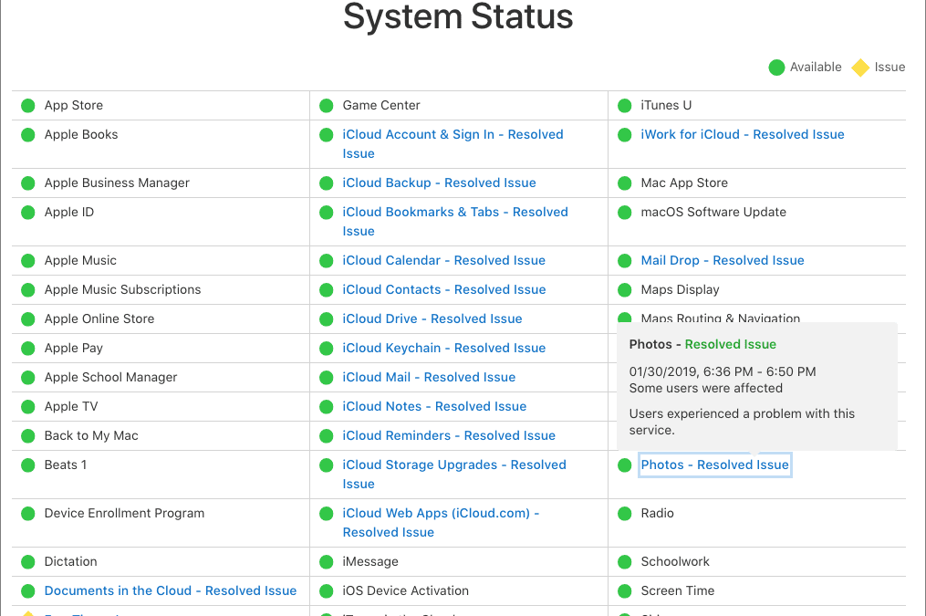 iCloud Services Being Wonky? Check Apple's System Status Page