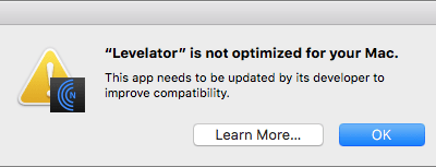 """What's with All These Dialogs Saying, """"SomeApp is not optimized for your Mac""""?"""