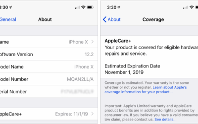 Can't Remember When Your Warranty Expires? iOS 12.2 Lays It Out