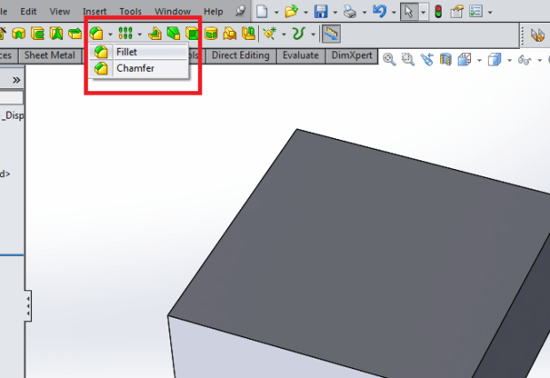 Fillet for rounded edges when designing plastic part mold