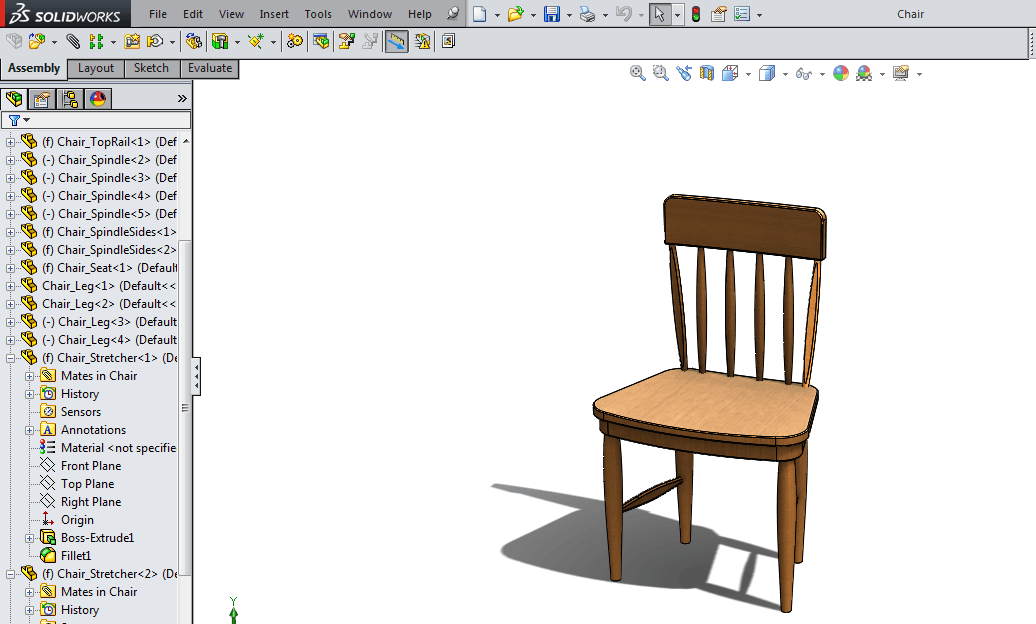 chair design in solidworks cheap kitchen table chairs configuration tutorial - part 2 of 12cad.com