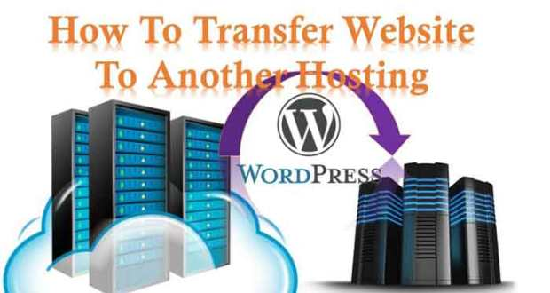 how to transfer website hosting