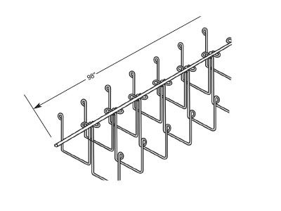 201D Series Double Snake Tray Cable Tray 5 Inch Double