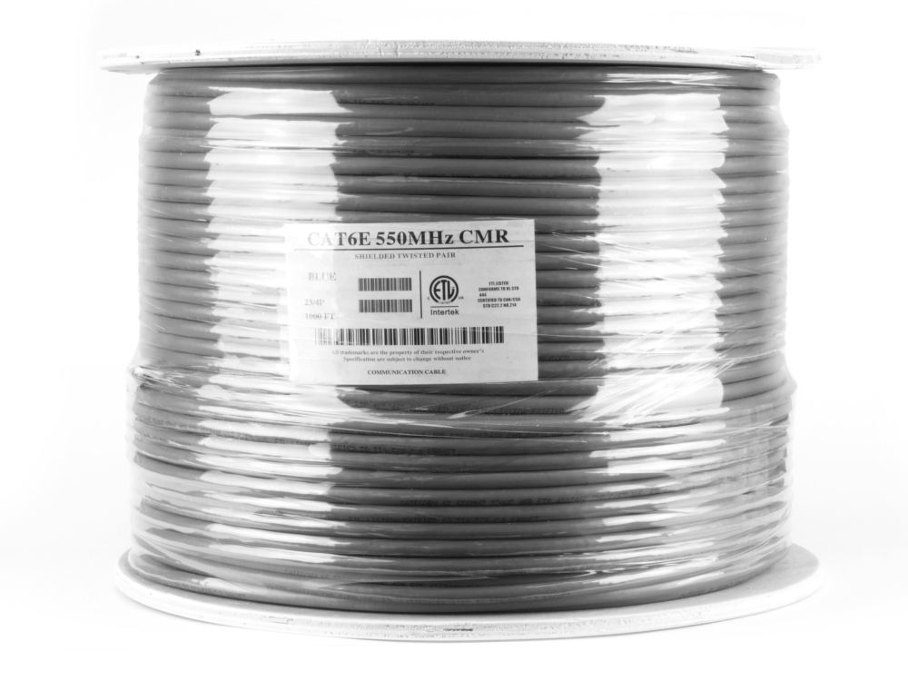 medium resolution of  picture of cat6 shielded network cable solid stp gray riser cmr