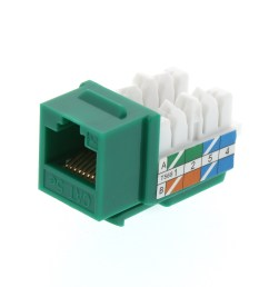picture of cat5e keystone jack 90 degree 110 utp green [ 3200 x 2400 Pixel ]