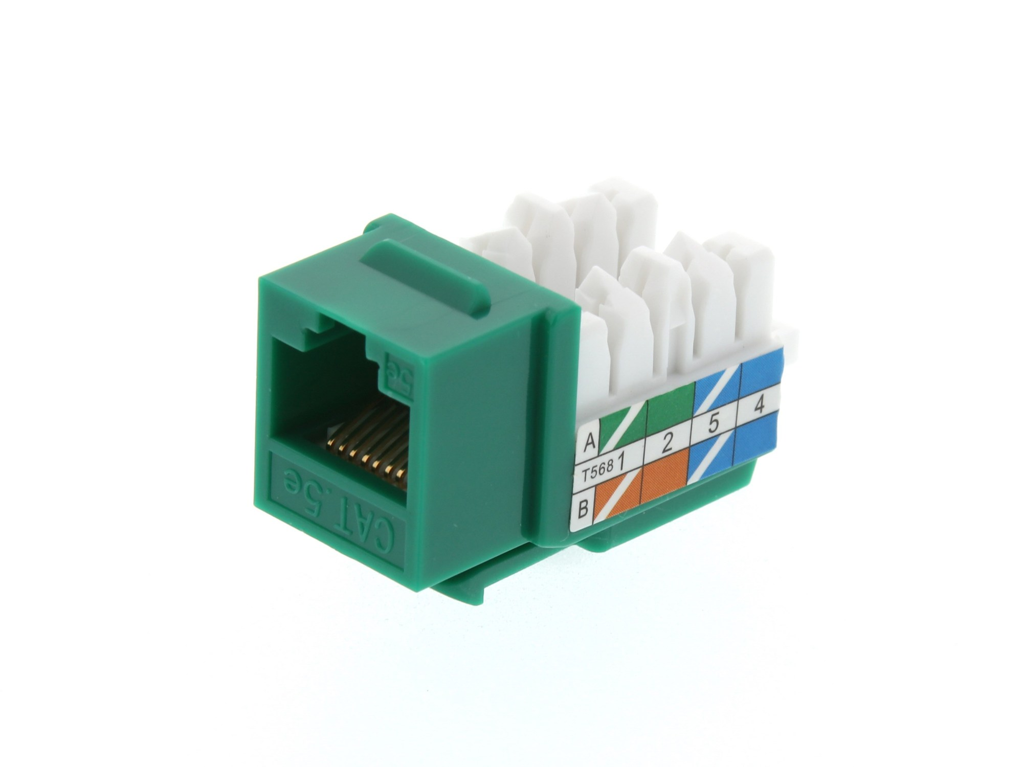 hight resolution of picture of cat5e keystone jack 90 degree 110 utp green