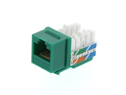 small resolution of picture of cat5e keystone jack 90 degree 110 utp green