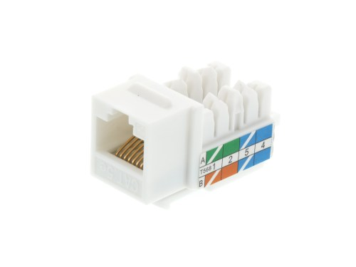 small resolution of picture of cat5e keystone jack 90 degree 110 utp white