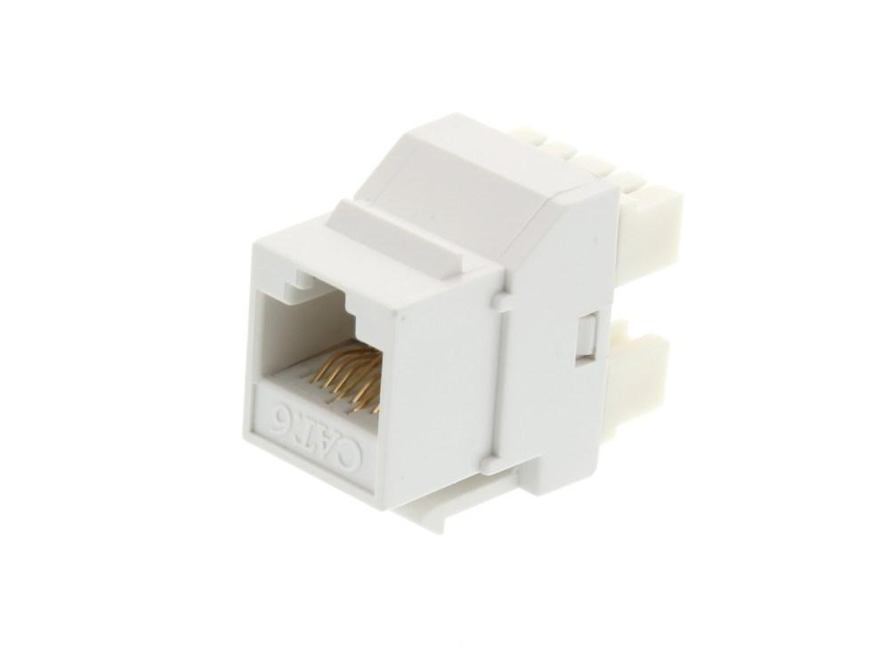 medium resolution of picture of cat6 speedterm keystone jack 180 degree 110 utp white