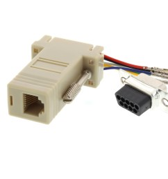 picture of modular adapter kit db9 female to rj11 rj12 beige  [ 3200 x 2400 Pixel ]