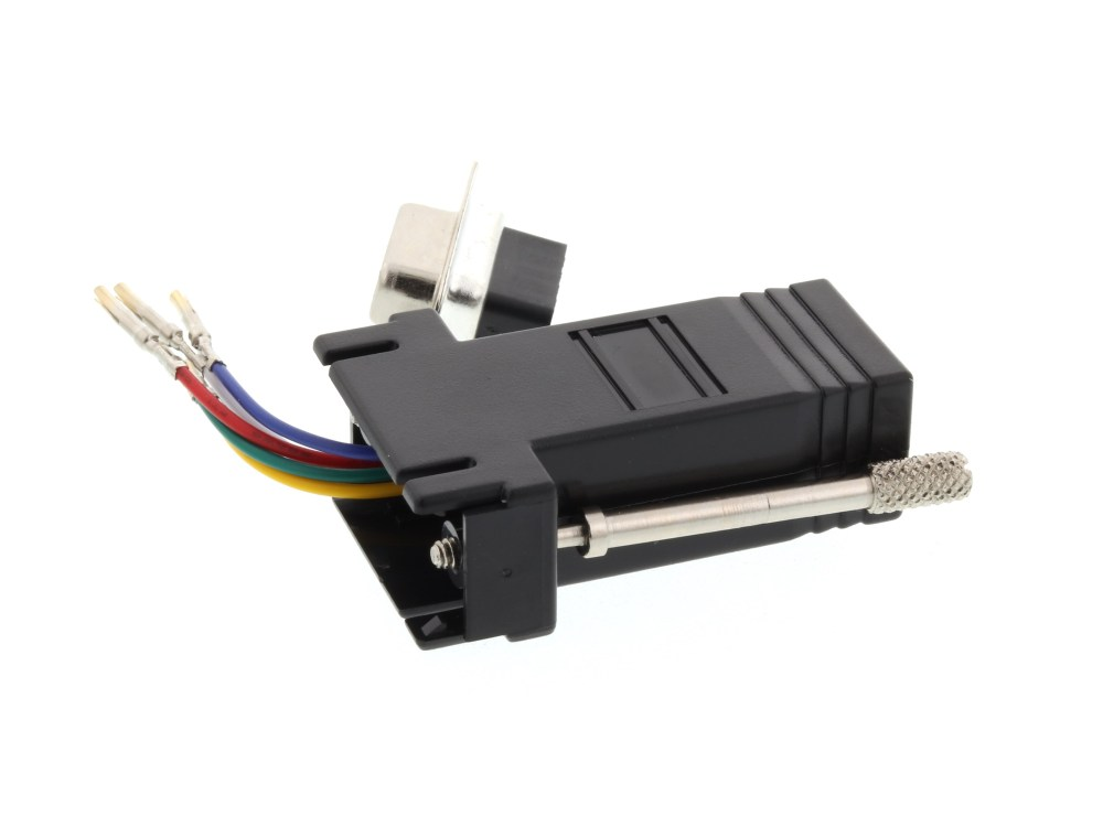 medium resolution of  picture of modular adapter kit db9 female to rj11 rj12 black